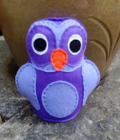 Owl, Felt Owl, Toy Owl, CE Tested, Childrens Toy, Purple, Lilac, Toys for Girls, Toys for Boys, Nursery Toy, Felt Toys by DaisyFelts on Etsy