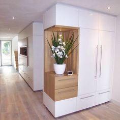 nieuwe interieur elementen : Couloir, entrée, escaliers modernes par EIKplan architecten BNA