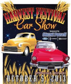 The Springfield-Washington County Harvest Festival Car Show – held Saturday, October 5th – is now sponsored by Stuart Powell Ford-Lincoln-Mazda!  This year, it will be better than ever … more music, great food, and for the first time: the new beer gardens.  Awesome door prizes will be given out every 30 minutes.  Registration begins at 10am, the Car Show starts at 2:00pm, and trophies will be given out at 4:30.  It's only $15 to enter a vehicle, and free to come check 'em out!