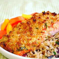 Baked Dijon Salmon: This Baked Dijon Salmon has amazing flavor from the buttery…