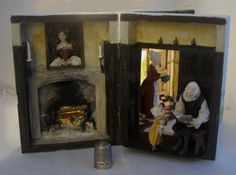 The Tudor box . Artist says: The first section of the box with the view through to the second section