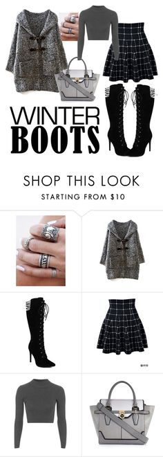 """Winter Boots!!! <3"" by jingjing194 ❤ liked on Polyvore featuring Topshop, River Island, black, grey and winterboots"