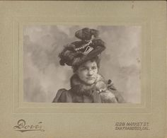 1898 photo of woman with hat
