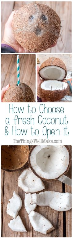 Buying fresh  coconuts can be intimidating and frustrating when you choose the wrong one. Let me show you how to choose a coconut that is fresh, and how to open