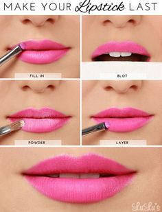 HowTo make your  lipstick last  makeup  tips  beauty  lips Maquillage 75532f95c9a