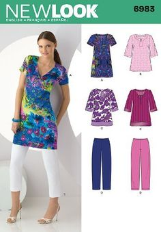 New Look Sewing Pattern 6983 Misses' Separates, Size A (10-12-14-16-18-20-22) by New Look, http://www.amazon.com/dp/B004RSU40M/ref=cm_sw_r_pi_dp_r9Cjqb1G0C2KN