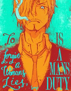 Sanji. This is some beautiful art right here. The colours are gorgeous and the expression is hard to look away from. Love it! <3