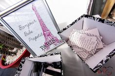 """Photo 6 of 20: Parisian, French, Paris, Pink, Pink and black / Baby Shower/Sip & See """"Bebe Prepetit Soiree""""   Catch My Party"""