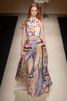 51 photos of Alberta Ferretti at Milan Fashion Week Spring 2015.