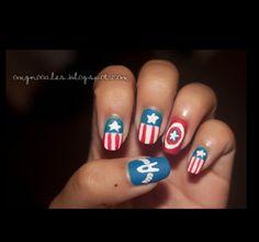 Captain America nails! I'm in love!