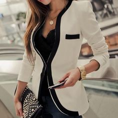 Love the blazer... the whole outfit.