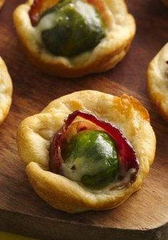 Brussels Sprouts and Bacon Crescent Cups Recipe