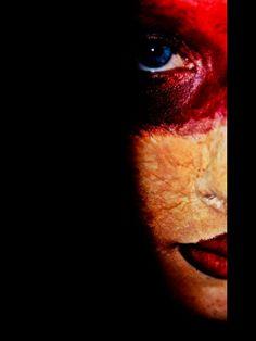 Horror/gore themed photo shoot #red #blood #photos #photoshoot #makeup #gore #horror #halloween