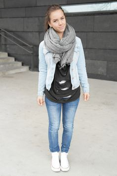 Dark Jeans With Light Jean Jacket - JacketIn