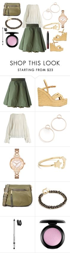 """""""Plain And simple"""" by hillarymaguire ❤ liked on Polyvore featuring Moncler, Yves Saint Laurent, Chloé, Jennifer Zeuner, Kate Spade, Ariel Gordon, Marc Jacobs, Elizabeth and James, Trish McEvoy and MAC Cosmetics"""
