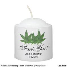 Marijuana Wedding Thank You Favor Votive Candle