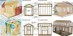 9×10 Slant Roof Shed Plans Blueprints For Storage Shed Lean To Shed Plans, Run In Shed, Wood Shed Plans, Free Shed Plans, Shed Building Plans, Backyard Storage Sheds, Garden Storage Shed, Storage Shed Plans, Roof Storage