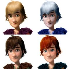 The Big Four + Color scheme. Hiccup. He looks good in 3rd and 4th ones, and maybe the 2nd one. But that's an iffy. lol XD
