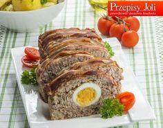 pieczen rzymska z boczkiem Meatloaf, Cooking, Food Ideas, Polish, Kitchen, Vitreous Enamel, Meat Loaf, Kochen, Manicure