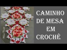 Caminho de Mesa Camélias em Crochê - Parte: 2/2 - YouTube