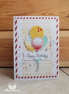 Magical Scrapworld: Happy birthday, balloon celebrationballoon celebration, cards, Stampin' Up!, timeless textures, spring catalogue 2016