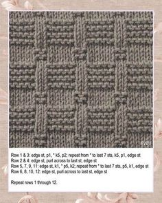 Free Knitting Stitch Stepping Stones with written instructions. Easy knit and purl texture pattern. Free Knitting Stitch Stepping Stones with written instructions. Easy knit and purl texture pattern. Baby Knitting Patterns, Knitted Washcloth Patterns, Knitting Squares, Knitting Designs, Knitted Baby, Knitted Dolls, Knit Purl Stitches, Knitting Stiches, Easy Knitting