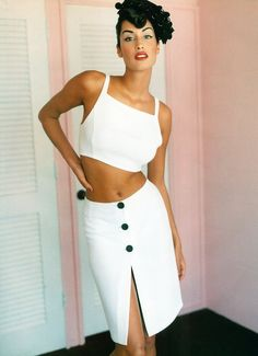 Yasmeen Ghauri | Photography by Mario Testino | For Vogue Magazine UK | February 1995