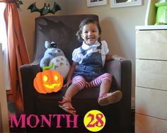 Happy Halloween Liv Monthly Photos, My Neighbor Totoro, How To Take Photos, Happy Halloween, Plush, Nursery, My Favorite Things, Day Care, Baby Rooms
