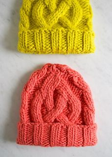 Great Free Hat Pattern, would look cute in Malabrigo Rasta | Fast Knitted Gift Ideas