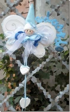 fiocco personalizzato azzurro