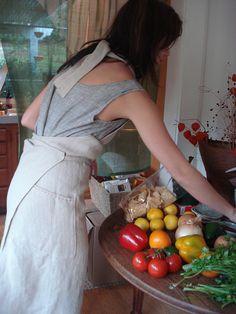 hemp full apron