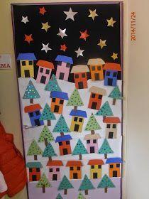 Christmas On A Budget, Christmas Art, Christmas Lights, Christmas Classroom Door, School Door Decorations, Christmas Door Decorations, Winter Door Decoration, Theme Noel, Door Decorating