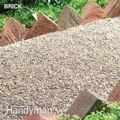 Brick edging--would never think to lay brick this way...thanks for the idea!