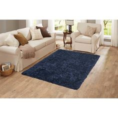 Better Homes and Gardens Shag Area Rug, Brown