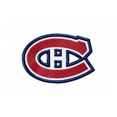 Montreal Canadiens logo Machine Embroidery Design for instant download