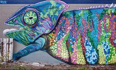 #graffiti #photography #streetphotography #chameleon #art www.wynwoodartbooks.com #districtartisan #miami