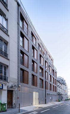 Building Layout, Building Facade, Pere Lachaise Cemetery, Mechanical Ventilation, Paris Climate, Timber Panelling, Urban Fabric, Concrete Structure, Living Environment