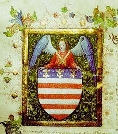 V roku 1369 bol udelený Košiciam erb ako prvej právnickej osobe v Európe vôbec. Na obrázku je vrcholnegotická miniatúra erbu podľa druhej erbovej listiny mesta Košice od Židmunda Luxemburského z roku 1423, ktorá je aj prvou miniatúrou vydanou pre uhorské mesto http://sk.wikipedia.org/wiki/Dejiny_Ko%C5%A1%C3%ADc Kassa 1423.jpg