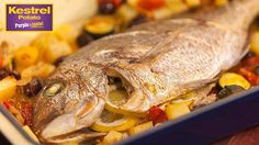 Whole Baked Snapper with Zucchini & Tomatoes