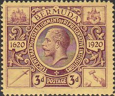Bermuda 1921 King George V Institutions Tercentenary SG 70 Fine Mint SG 70 Scott 76 More British Commonwealth stamps here