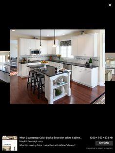 Weiße Küchenschränke, Küchenweiß, Weiße Küche Mit Grauen Arbeitsplatten,  Schränke Aus Ahorn, Küchentheken, Dunkle Arbeitsplatten, Quarz  Arbeitsplatten ...