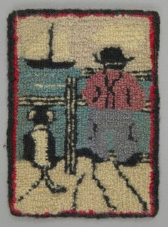 Hooked Rug Place Made North America Canada Central Quebec Point Au Pic Period Early Century Date C 1930 Dimensions L 13 Cm X W 18