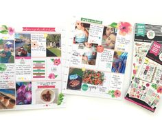 Spring Bucket List + photos on a memory planning spread in the BIG Happy Planner® of mambi Design Team member Marisa Yciano | me & my BIG ideas