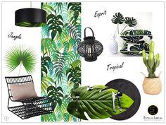 """Venez découvrir l'univers déco très tendance de cette année : Du tropical à l'""""Urban Jungle""""... un nouveau souffle du raffinement à la fantaisie..."""