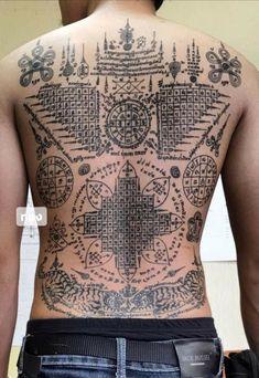 Khmer Tattoo, Thai Tattoo, Back Tattoos, Tatoos, Hindu Tattoos, Sak Yant Tattoo, Koi Art, Asian Style, Baddie