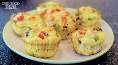 omelet muffins - fill muffin papers with diced veggies, then add beaten eggs to nearly the top and bake at 350 for 18-20 minutes. Yum!