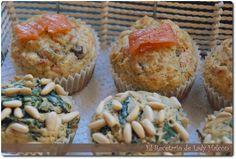 Muffins de espinacas y muffins de salmón