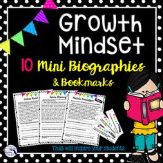 These 10 mini-biographies are the perfect growth mindset activity for your class in the first few days, weeks, or months of the school year! Give your students the opportunity to quickly read about people who have overcome great obstacles and gone on to greatness!