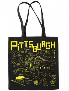 d3422482afbb Map Totes made in the USA featuring maps of favorite cities and states!  Pittsburgh Map