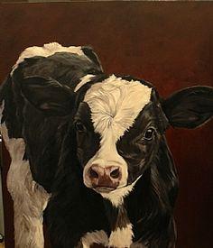 """denise rich art   Denise Rich » Holstein Calf """"First Look Around"""""""